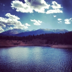 """""""One of my favorite hikes in Green Mountain Falls, this is Catamount Reservoir"""""""